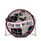 1021.55руб. 50% СКИДКА|Модная вышивка буквами круглая земля круговой женский кошелек на цепочке сумка на плечо женская сумка через плечо мини сумка мессенджер-in Сумки с ручками from Багаж и сумки on AliExpress - 11.11_Double 11_Singles' Day