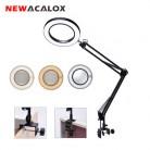 Гибкая Настольная лампа NEWACALOX с большим 5X USB светодиодным увеличительным стеклом 3 вида цветов с подсветкой Лупа лампа лупа для чтения/работ...
