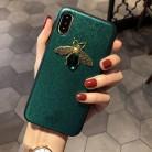 230.35 руб. 13% СКИДКА|Роскошные модные брендовые Diamond пчела Glitte мягкий чехол для iPhone 6 S 7 8 plus X XR XS Max милый Твердый переплет для samsung galaxy S8 S9 купить на AliExpress