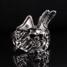 FDLK крутые мужские Мальчики цинковый сплав пиратское кольцо с черепом винтажные панк титановые байкерские ювелирные изделия Размер 7-14