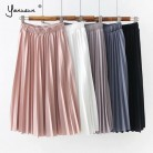 US $11.99 40% OFF|Yanueun Women Elegant Must Have Pleated Skirts High Waist Elegant Skirt Classic A Line Skirt 2019 New Spring Summer-in Skirts from Women's Clothing on Aliexpress.com | Alibaba Group