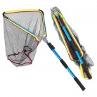 US $21.92 15% OFF|200MM Blue Aluminum Alloy Folding Fishing Landing Nett Cast Carp Rubber Coated Network With Extending Telescoping Pole Handle-in Fishing Net from Sports & Entertainment on Aliexpress.com | Alibaba Group
