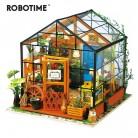 1850.59руб. 45% СКИДКА|Robotime 5 видов DIY Кукольный дом с мебели для детей и взрослых миниатюрный кукольный домик деревянные наборы игрушка DG-in Кукольные дома from Игрушки и хобби on AliExpress