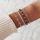 US $1.59 13% OFF|4 Pcs/ Set Simple Engraving Compass Bead Chain Crystal Multilayer Gold Bracelet Set Lady Exquisite Party Clothing Accessories-in Chain & Link Bracelets from Jewelry & Accessories on Aliexpress.com | Alibaba Group