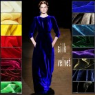 free shipping 65color silk velour fabric silk velvet fabric for velvet dress silk fabric