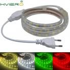 220 V SMD 5050 Водонепроницаемый гибкая 60 светодиодов/M Открытый Садовая гирлянда Атмосфера лампы 1 м 2 м 3 м 4 м 5 м 6 M 8 M 10 м 12 м 15 м 20 м купить на AliExpress