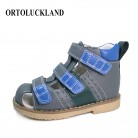 1747.91 руб. 41% СКИДКА|С закрытым носком для маленьких мальчиков сандалии из натуральной кожи обувь детская ортопедическая обувь для детей малышей кожа сандалии, Летняя обувь купить на AliExpress