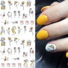US $1.59 |1 sheet Abstract Figure 3D Nail Stickers Black Line Woman Design Nail Sticker Rose Adhesive Stickers Nail Art Tattoo Decoration-in Stickers & Decals from Beauty & Health on AliExpress - 11.11_Double 11_Singles' Day