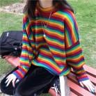 1002.2 руб. 18% СКИДКА|Женский корейский Harajuku Hong Kong Ароматизированный Свободный Полосатый свитер женские свитера японская Kawaii одежда ulzzang для женщин-in Пуловеры from Женская одежда on Aliexpress.com | Alibaba Group