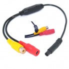 Car Video Cable RCA-4PIN For Car Rear View Camera Connect Car Monitor DVD Trigger Cable Parking assistance