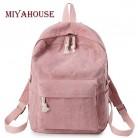 732.62 руб. 53% СКИДКА|Miyahouse элегантный дизайн Мягкий тканевый рюкзак женский вельветовый дизайн школьный рюкзак для девочек подростков полосатый рюкзак женский купить на AliExpress