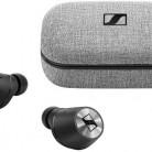 Наушники с микрофоном SENNHEISER Momentum True Wireless M3IETW, Bluetooth, черный/серебристый