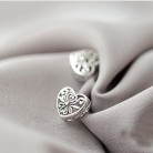 136.99 руб. 25% СКИДКА|925 пробы серебряные ювелирные изделия милые Полые серьги сердечки для женщин серьги Модные Brincos Бесплатная доставка купить на AliExpress