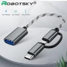 2 в 1 USB 3,0 OTG кабель type C Micro usb to USB3.0 адаптер USB-C кабель передачи данных для телефона samsung Xiaomi huawei type-C