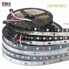 529.86 руб. 46% СКИДКА|DC12V SMD5050 RGB гибкий адресуемый 30/48/60 светодиодов/m ws2811 Светодиодный Пиксельная лента световая лента внешний ic, 1 ic control 3 светодиода-in Светодиодные ленты from Лампы и освещение on Aliexpress.com | Alibaba Group