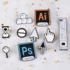 US $0.59 40% OFF|Classical Pixel Cursors PS AI Photoshop Toolbar Hourglass Computer Window Icon Mouse Pointer Hand Arrow Enamel Brooches Pins-in Brooches from Jewelry & Accessories on AliExpress - 11.11_Double 11_Singles' Day