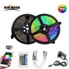 RGB Светодиодная лента 5 м 10 м 15 м Водонепроницаемая светодиодная неоновая лампа 2835 5050 DC12V 30 светодиодов/м гибкая лента для освещения Комплект ...