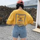397.9 руб. 14% СКИДКА|korean fashion Summer T shirt women letter printing loose casual harajuku T shirt Short Sleeves yellow tshirt big size Tops Tee-in Футболки from Женская одежда on Aliexpress.com | Alibaba Group