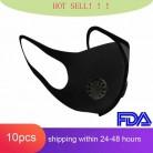 Filtro de aire a prueba de polvo Ffp3 máscara respirable doble válvula PM2.5 máscara respiratoria antipolvo máscara respirador de boca Ffp3 con filtro