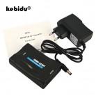 609.95 руб. 29% СКИДКА|Kebidu 1080P HDMI к SCART Аудио Видео высококлассные конвертер AV сигнала адаптер HD приемник ТВ DVD с США/ЕС мощность Plug оригинальная коробка купить на AliExpress