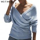 666.33 руб. 58% СКИДКА|WOTWOY сексуальный вязаный свитер с v образным вырезом и перекрестным узором Женский пуловер с дырочками 2018 зимний кашемировый женский свитер с открытой спиной уличная перемычка-in Пуловеры from Женская одежда on Aliexpress.com | Alibaba Group