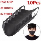 Washable Adult Mask Black Bilayer Sponge Anti Haze Dust Reusable Double Layer Dustproof Mouth-muffle Wind Proof Mouth Mask