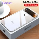 US $4.12 67% OFF|iHaitun Luxury Lens Glass Case For iPhone XS MAX XR Cases Ultra Thin PC Transparent Back Glass Cover For iPhone X XS 10 7 8 Plus-in Fitted Cases from Cellphones & Telecommunications on Aliexpress.com | Alibaba Group