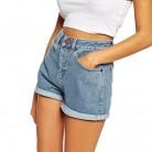 498.34 руб. 5% СКИДКА|Европейский синий опрессованные джинсовые шорты для женщин 2019 летние новые повседневные плюс размер рваные короткие джинсы женские шорты с высокой талией-in Шорты from Женская одежда on Aliexpress.com | Alibaba Group