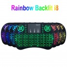 US $6.59 53% OFF|7 color backlit i8 Mini Wireless Keyboard 2.4ghz English Russian 3 colour Air Mouse with Touchpad Remote Control Android TV Box-in Keyboards from Computer & Office on Aliexpress.com | Alibaba Group