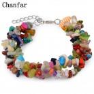 241.28 руб. 25% СКИДКА|Chanfar Мода чип бусины обернутый браслет из натуральных бусин кристалл браслет