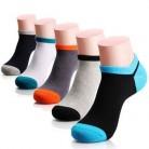 Рекомендуемые носки; мужские хлопковые носки; 5 пар/лот; сезон весна-лето-осень; Классические хлопковые короткие носки; короткие носки с закр...