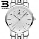 2698.1 руб. 49% СКИДКА|Ультратонкие наручные часы водостойкие женские часы Швейцария Бингер женские часы люксовый бренд кварцевые из нержавеющей стали B3051W 1 купить на AliExpress