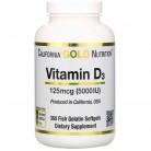 California Gold Nutrition, فيتامين D3، مقدار 125 ميكروغرام (5000 وحدة دولية)، 360 كبسولة سمك جيلاتينية
