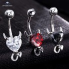 US $1.29 35% OFF|1 Piece 316L Stainless Steel Garnet Heart Zircon Crystal Devil Belly Button Ring Navel Piercing Nombril Ombligo Body Jewelry 14g-in Body Jewelry from Jewelry & Accessories on Aliexpress.com | Alibaba Group