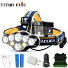 T20 светодиодный налобный фонарь перезаряжаемый T6 COB 8 режимов фары 6000 люмен фонарик масштабируемый водонепроницаемый для кемпинга рыбалки