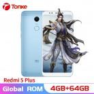 11257.84 руб. |Оригинальный Xiaomi Redmi 5 Plus 4G ram 64 GB rom 4000 mAh Snapdragon 625 Octa Core 5,99