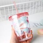 388.76руб. 5% СКИДКА|450 мл мультяшная Милая пластиковая соломенная бутылка с фламинго, летняя спортивная крутая бутылка для воды со льдом, женские офисные школьные бутылки для напитков-in Бутылки для воды from Дом и животные on AliExpress