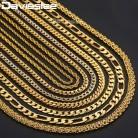 135.62 руб. 30% СКИДКА|Золотое ожерелье s для женщин мужчин Фигаро молотком змея Снаряженная Золото Заполненные мужчины s женщины s ожерелье цепь Модные украшения мм 2 3 4 5 6 мм DGNN2 купить на AliExpress