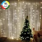 799.08 руб. 53% СКИДКА|Coversage 3X3 м рождественские гирлянды светодиодный гирлянды покупающий агент Фея рождественские вечерние садовые свадебные декоративные шторы огни-in Гирлянды светодиодные from Лампы и освещение on Aliexpress.com | Alibaba Group