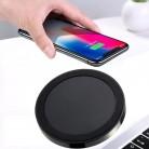 Cargador inalámbrico Led Ultra delgado de almohadilla de carga rápida para iphone X XS 8 Plus Samsung Huawei Mate 20 Pro Qi cargador inalámbrico # y4