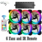 US $45.99 61% OFF|AIGO DR12 RGB 6pcs Computer Case PC Cooling Fan RGB Adjust LED 120mm Quiet + IR Remote New computer Cooler Cooling RGB Case Fan-in Fans & Cooling from Computer & Office on Aliexpress.com | Alibaba Group