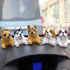 Автомобильные украшения, собачьи качающиеся игрушки для щенков, декоративная игрушка для приборной панели автомобиля, милые куклы с качающ...