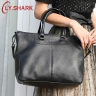 US $54.48 24% OFF|LY.SHARK Genuine Leather Bag Women Shoulder Bag For Women 2019 Big Handbag Women Famous Brand Lady Hand Bags Messenger bag Black-in Top-Handle Bags from Luggage & Bags on Aliexpress.com | Alibaba Group