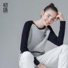 1517.61 руб. 42% СКИДКА|2014 до молодежного бренда весна женщин мода хлопка t  рубашка случайные свободные лоскутное embrodiery длинными рубашка женская ти топ бесплатная доставка-in Футболки from Женская одежда on Aliexpress.com | Alibaba Group