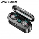 ANRY Led Display Heavy Bass Mini Earbuds Smart Touch TWS Wireless Earphones Bluetooth 5.0 Headphone with Microphone 8D Stereo