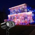 Перемещение синий водяной знак Снежинка лазерный проектор светодио дный LED Свет этапа Рождество новый вечерние Хэллоуин открытый купить на AliExpress