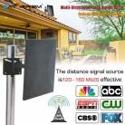 1926.93 руб. 46% СКИДКА|Satxtrem 318A HDTV антенна цифровая 160 км диапазон наружного сигнала в помещении приема с усилителем усилитель 360 градусов приема-in TV-антенна from Бытовая электроника on Aliexpress.com | Alibaba Group