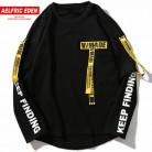 1369.43 руб. 40% СКИДКА|Aelfric Eden Футболка мужская 3d Рубашка печать лента с буквами Harajuku хлопок длинный рукав Панк футболка модные повседневные топы футболки OF016-in Футболки from Мужская одежда on Aliexpress.com | Alibaba Group