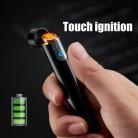SXZM зарядная Зажигалка сенсорная Индукционная ветрозащитная электронная ультратонкая USB Зажигалка под заказ металлические аксессуары для ...