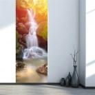 856.66 руб. |3D двери стены холодильник стикеры наклейки обёрточная бумага росписи Пейзаж самоклеющиеся домашний декор, лес водопад купить на AliExpress